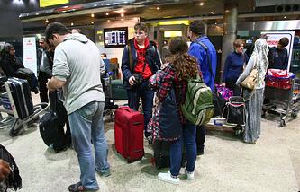 Passengers at Cairo airport