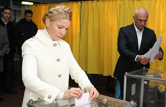 Leader of the Batkivshchyna faction Yulia Tymoshenko and her husband Alexander