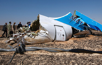 The site of A321 passenger jet crash in Egypt
