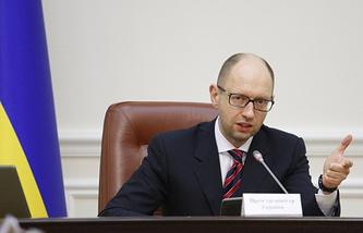 Ukraine's PM Arseniy Yatsenyuk
