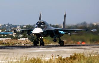 Russia's Su-34 frontline bomber in Syria