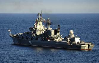 The Varyag guided missile cruiser