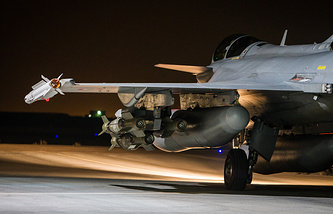French army jet participating in an operation launched in support of the US-led coalition against IS