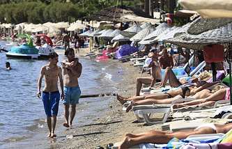 Tourists in Bodrum, Turkey