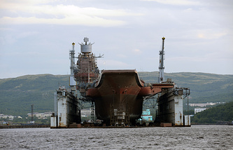 Russia's only aircraft carrier under repairs