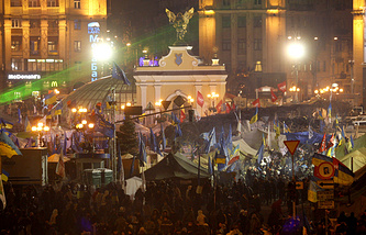 Kiev's Independence Square in December 2013