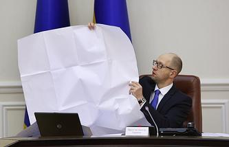 Ukrainian Prime Minister Arseniy Yatesnyuk