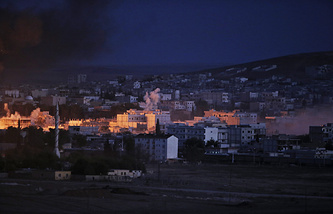 Kobani, near the Turkey-Syria border
