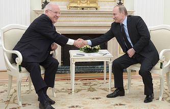 Israeli President Reuven Rivlin and Russian President Vladimir Putin