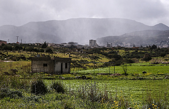 A landscape in the Hama province