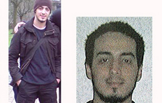 Combination photo provided by the Belgian Federal Police showing Najim Laachraoui