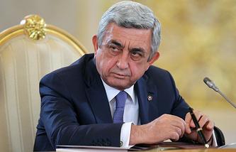 Armenia's President Serzh Sargsian