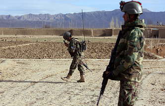 Afghanistan national army soldiers