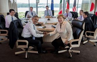 G7 leaders in Japan