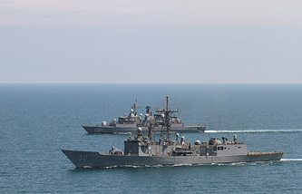 NATO warships in the Black Sea (archive)