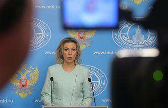 Russia's Foreign Ministry spokeswoman Maria Zakharova