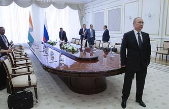 Russian President Vladimir Putin in Tashkent