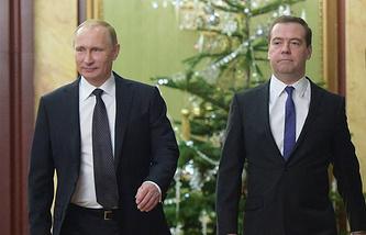 President Vladimir Putin and Prime Minister Dmitry Medvedev