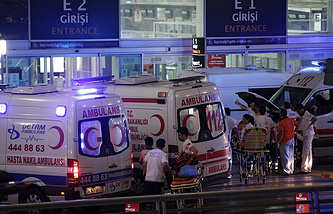 The site of the terrorist attacks at Istanbul airport