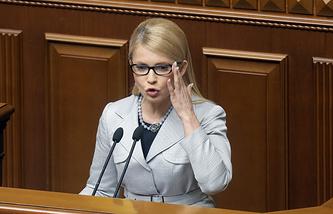 Ukrainian Batkivshchina faction leader, Yulia Timoshenko
