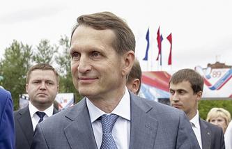 Speaker of the Russian State Duma Sergei Naryshkin