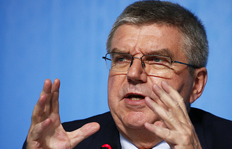 The president of the International Olympic Committee Thomas Bach