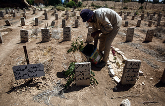The cemetery of Douma, Syria (archive)
