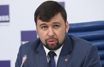 DPR chief negotiator Denis Pushilin