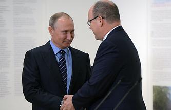 Russian President Vladimir Putin and Prince Albert II, of Monaco