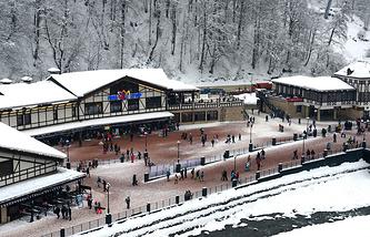 Rosa Khutor alpine ski resort in Sochi