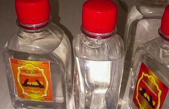 Bottles of the lethal bath lotion called Boyaryshnik