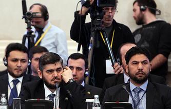 Syrian opposition delegation at talks in Astana