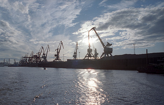 Port in Yakutsk