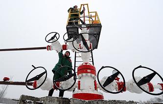 Oil field in Belarus