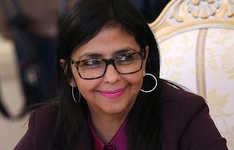 Venezuela's Foreign Minister Delcy Rodriguez