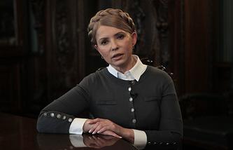 Ukraine's leader of the Batkivshchina faction Yulia Timoshenko