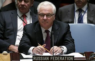 Russia's Permanent Representative to UN Vitaly Churkin