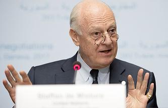 The United Nations Special Envoy for Syria Staffan de Mistura