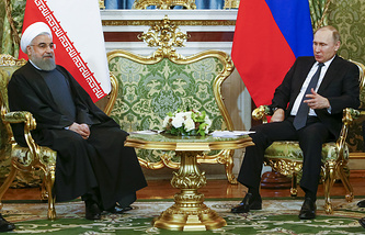 Russian and Iranian Presidents, Vladimir Putin and Hassan Rouhani