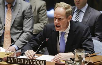 Britain's Permanent Representative to the UN, Matthew Rycroft