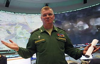 Defense Ministry's official spokesman Igor Konashenkov