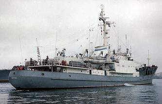 A Russian Black Sea Fleet's research ship Liman