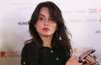 Tina Kandelaki, the general producer of Russia's sports channel Match-TV