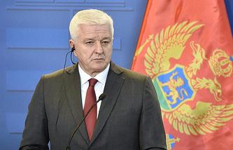 Montenegro's Prime Minister Dusko Markovic