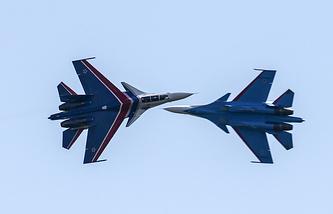 Su-30SM fighter jets