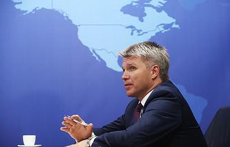 Russian Sports Minister Pavel Kolobkov
