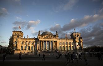 The Bundestag building in Berlin
