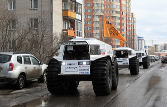 Start of the expedition in Russia's Arkhangelsk