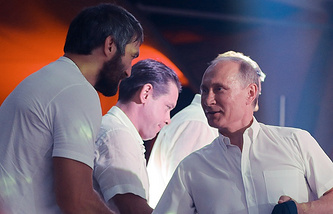 Alexander Ovechkin and Vladimir Putin