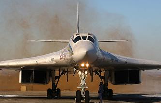 Tu-160 warplane
